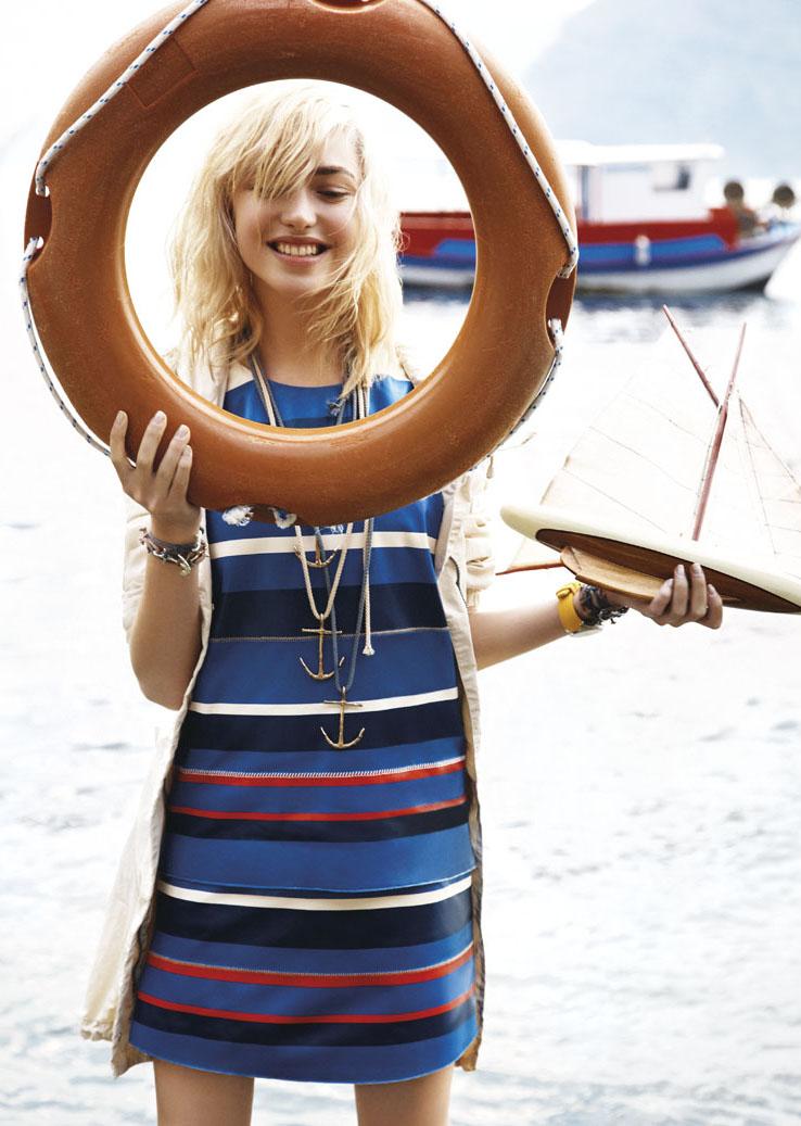 "Elle Italia May 2013 ""Sailor Made"" | Carlotta Manaigo | Elle Italia | Eva Geraldine Fontanelli | Numerique Retouch Photo Retouching Studio"