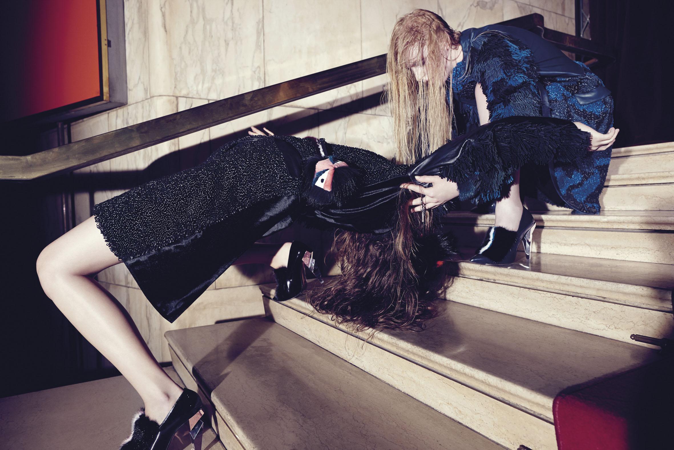 "GREY IX AW 2013/14  ""Fendi Relapse"" | Alessio Bolzoni | Grey Magazine | Valentina Ilardi Martin | Numerique Retouch Photo Retouching Studio"