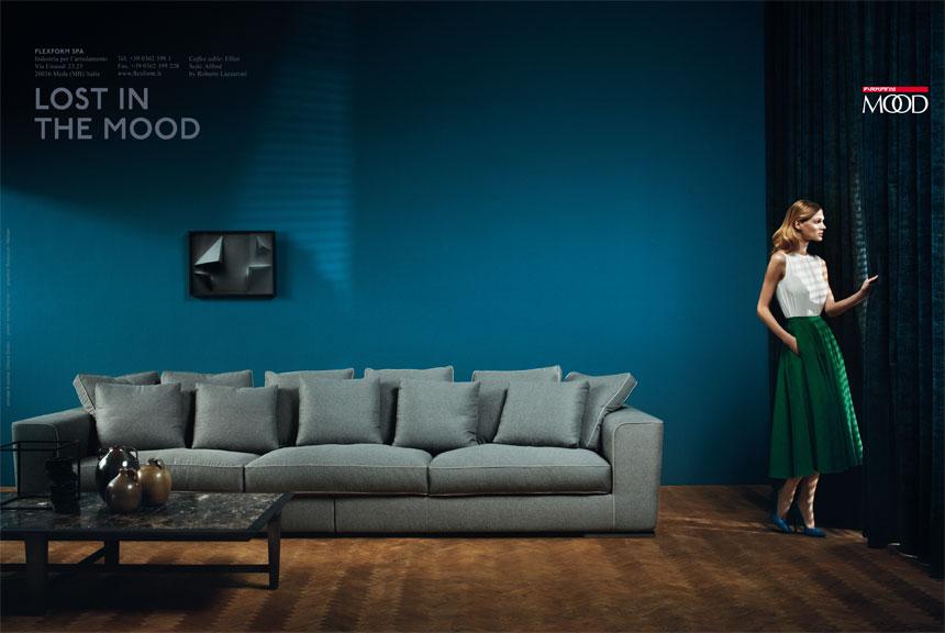 Flexform 2012 Campaign | Andrea Ferrari | Flexform | Elle Decor | Numerique Retouch Photo Retouching Studio