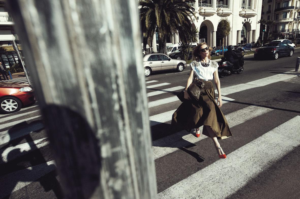 """Marie Claire May 2013 """"Promenade, una giornata open air""""   Alessio Bolzoni   Marie Claire Italia   Sabrina Di Gennaro   Numerique Retouch Photo Retouching Studio"""