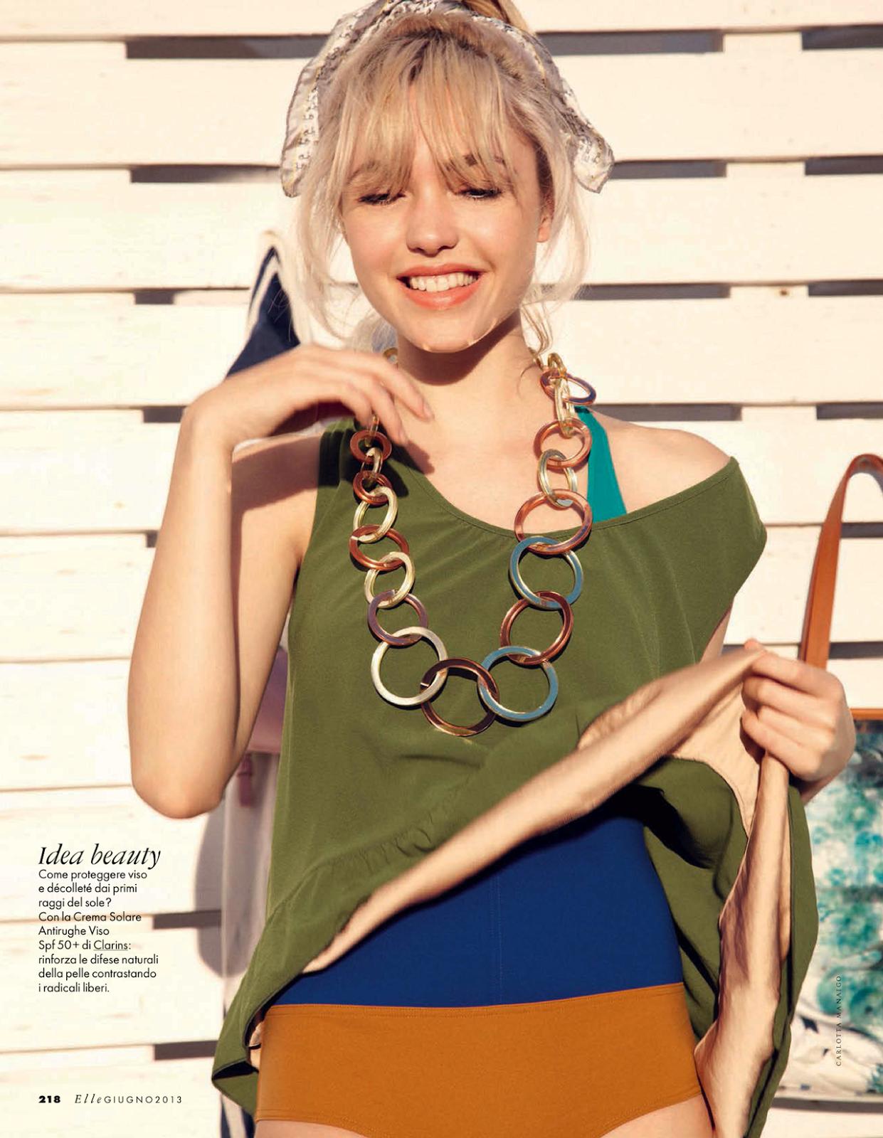 "Elle Italia June 2013 ""La Isla Bonita"" | Carlotta Manaigo | Elle Italia | Eva Geraldine Fontanelli | Numerique Retouch Photo Retouching Studio"