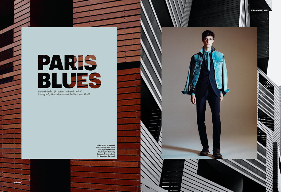 "Wallpaper* April 2013 ""Paris Blues"" 