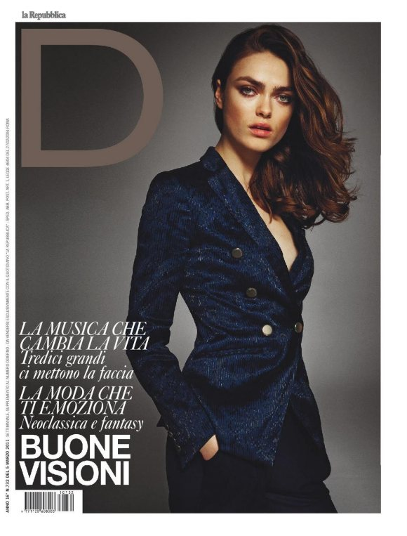 D la repubblica March 2011 Cover | Matteo Montanari | Sergio Rossi | D la Repubblica | Roberta Rusconi | Numerique Retouch Photo Retouching Studio