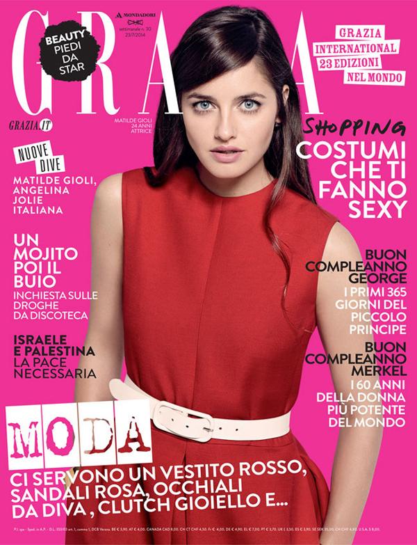 "Grazia Italia July 2014 ""Matilde Gioli"" | Andoni & Arantxa | Trussardi | Grazia Italia | Michele Bagnara | Numerique Retouch Photo Retouching Studio"