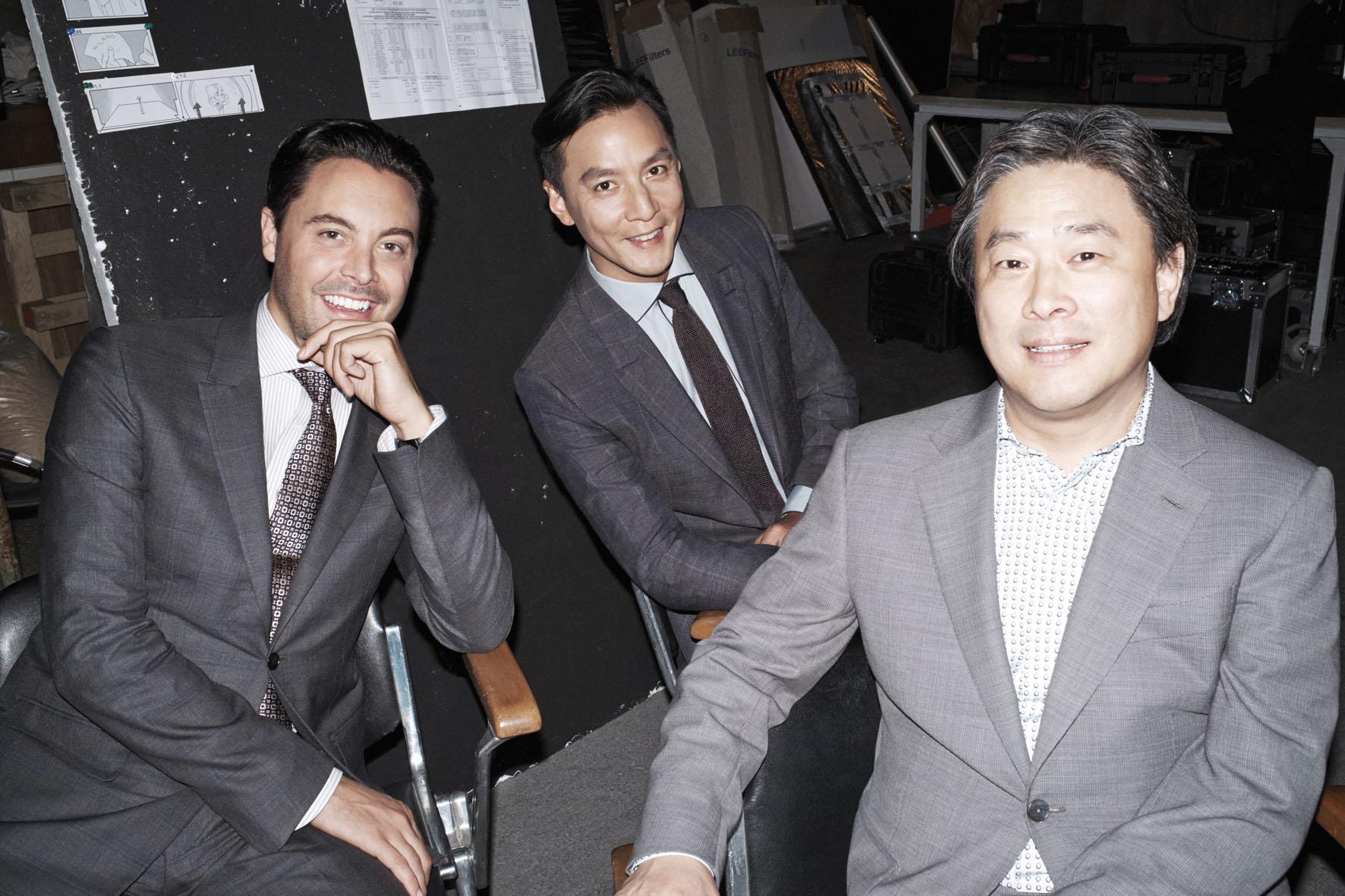 Park Chan-Wook, Jackson Huston and Daniel Wu for  Ermenegildo Zegna   Marco Pietracupa   Ermenegildo Zegna   Numerique Retouch Photo Retouching Studio