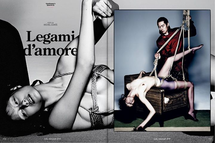 "GQ Italia May 2015 ""Legami d'amore"" 