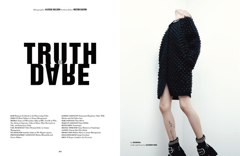 "10 Magazine FW 2015 ""Truth or Dare"" 