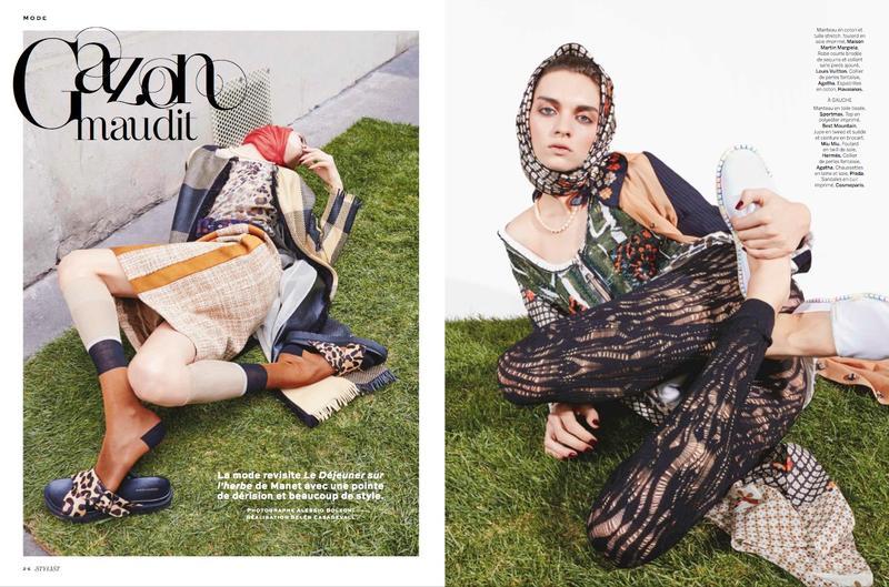 "Stylist April 2015 "" Gazon Mudit"" | Alessio Bolzoni | Stylist Magazine | Belen Casadevall | Numerique Retouch Photo Retouching Studio"