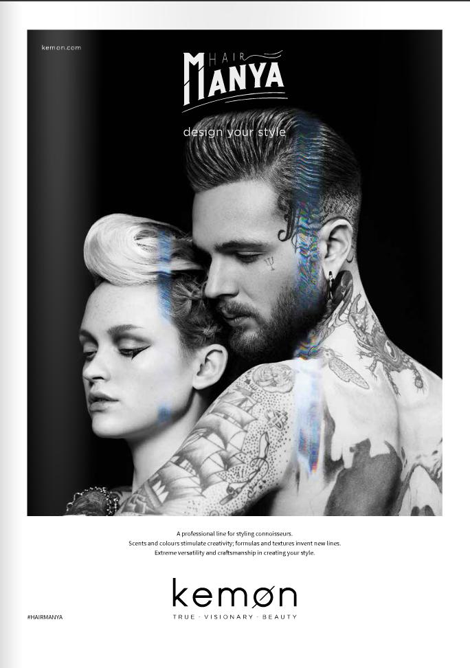 Kemon Hair Manya Adv 2016 | Andrea Ferrari | Kemon | Glamour Italia | Andrea Tenerani | Numerique Retouch Photo Retouching Studio