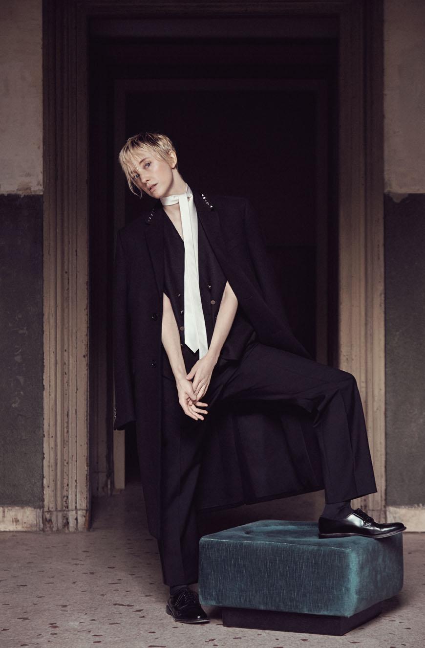 "L'Uomo Vogue October 2016 ""Andrea Riseborough"" | Monfreda-Horn | Patrizia Pepe | L'Uomo Vogue | Stéphane Gaudrie | Numerique Retouch Photo Retouching Studio"