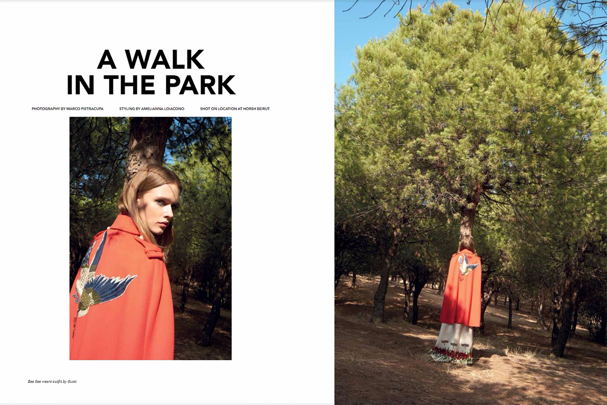 "Aishti Magazine Dec/Jan 2017 ""A walk in the park"" 