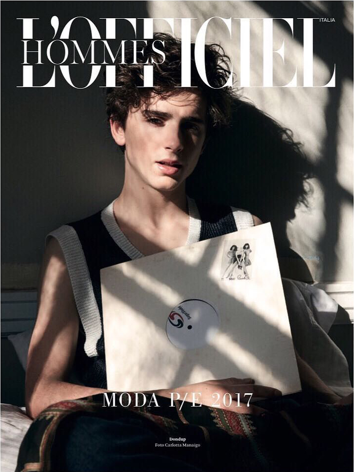 L'Officiel Hommes 2017 Timothée Chalamet | Carlotta Manaigo | L'Officiel Hommes Italia | Ahnna Lee | Numerique Retouch Photo Retouching Studio