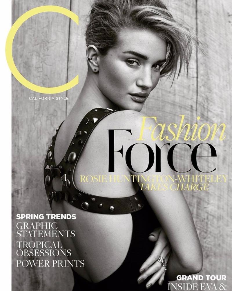 "C Magazine March 2017 ""Rosie Huntington Whiteley"" 
