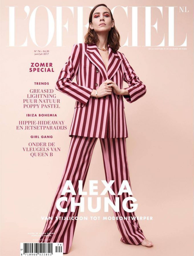 "L'Officiel Netherlands Jun/Jul 2017 ""Alexa Chung"" 