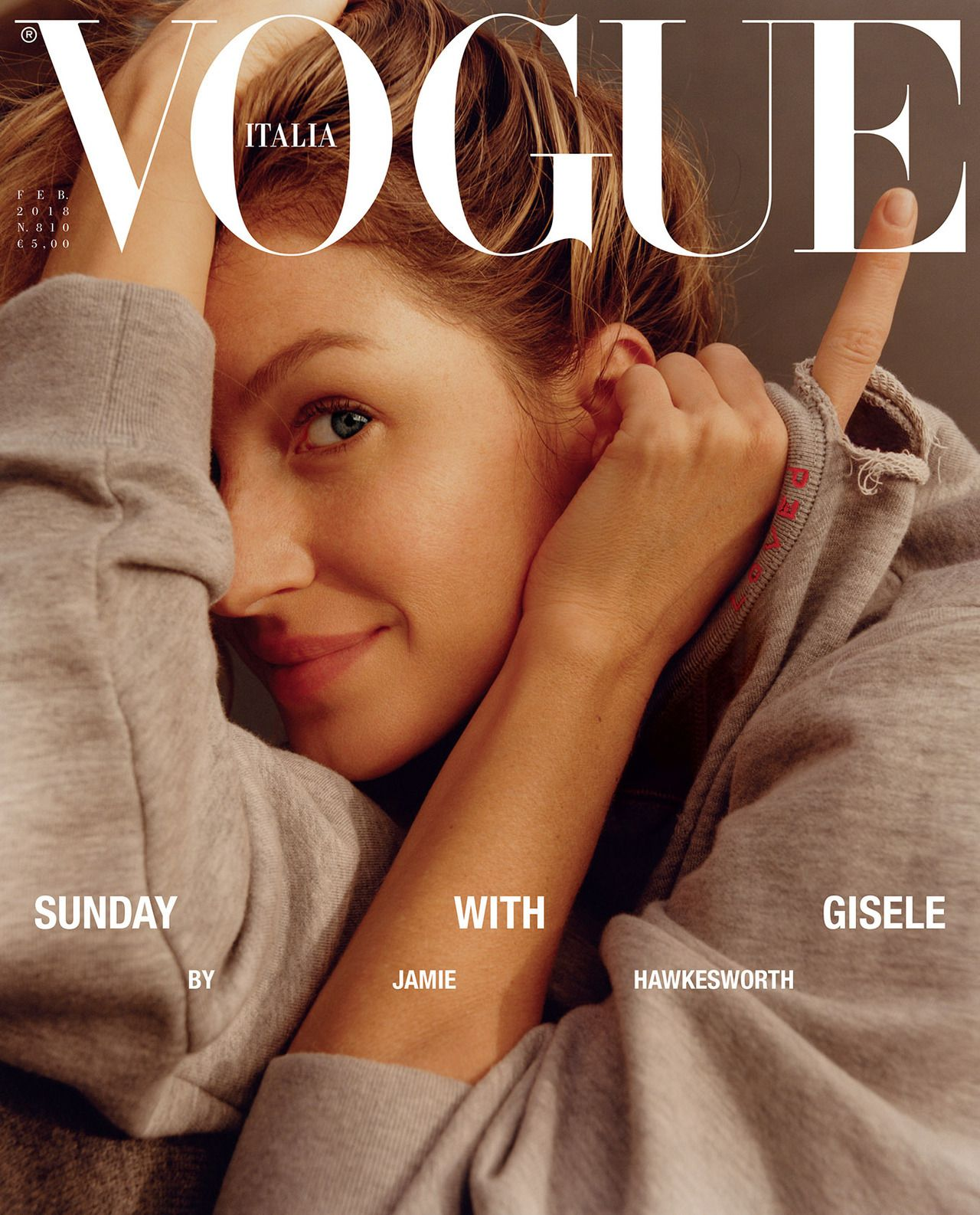 Cover Vogue Italia February 2018 | Jamie Hawkesworth | Vogue Italia | Numerique Retouch Photo Retouching Studio