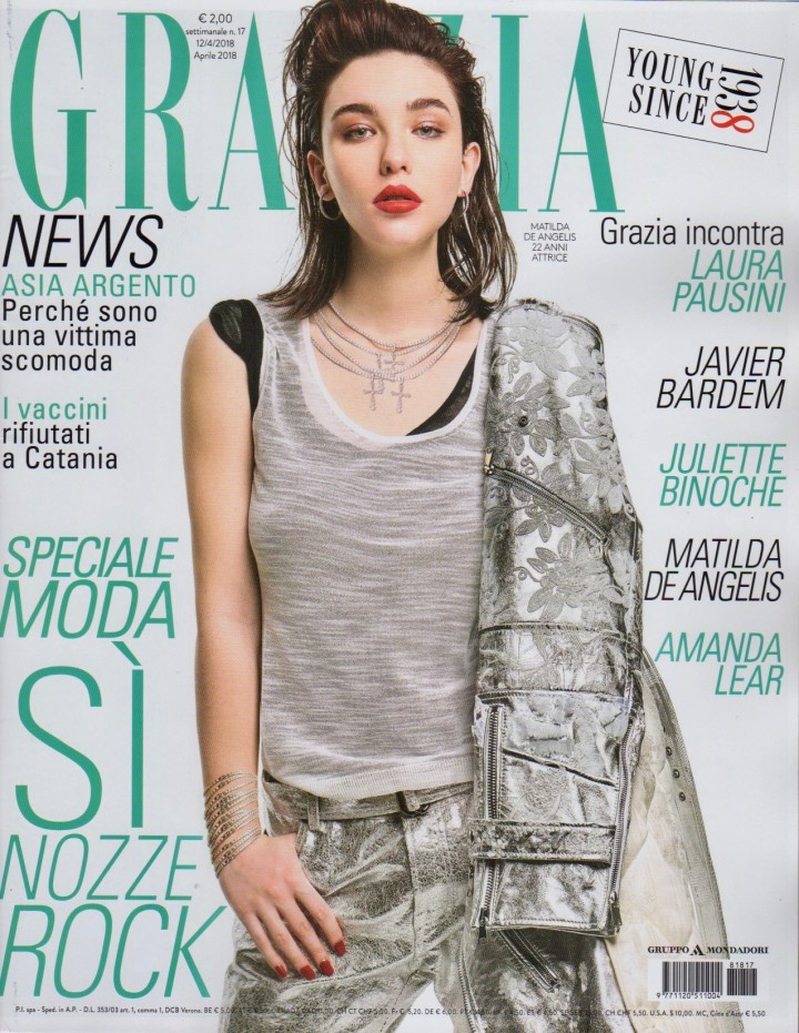 Grazia Cover April 2018 | Simone Falcetta | Grazia Italia | Numerique Retouch Photo Retouching Studio
