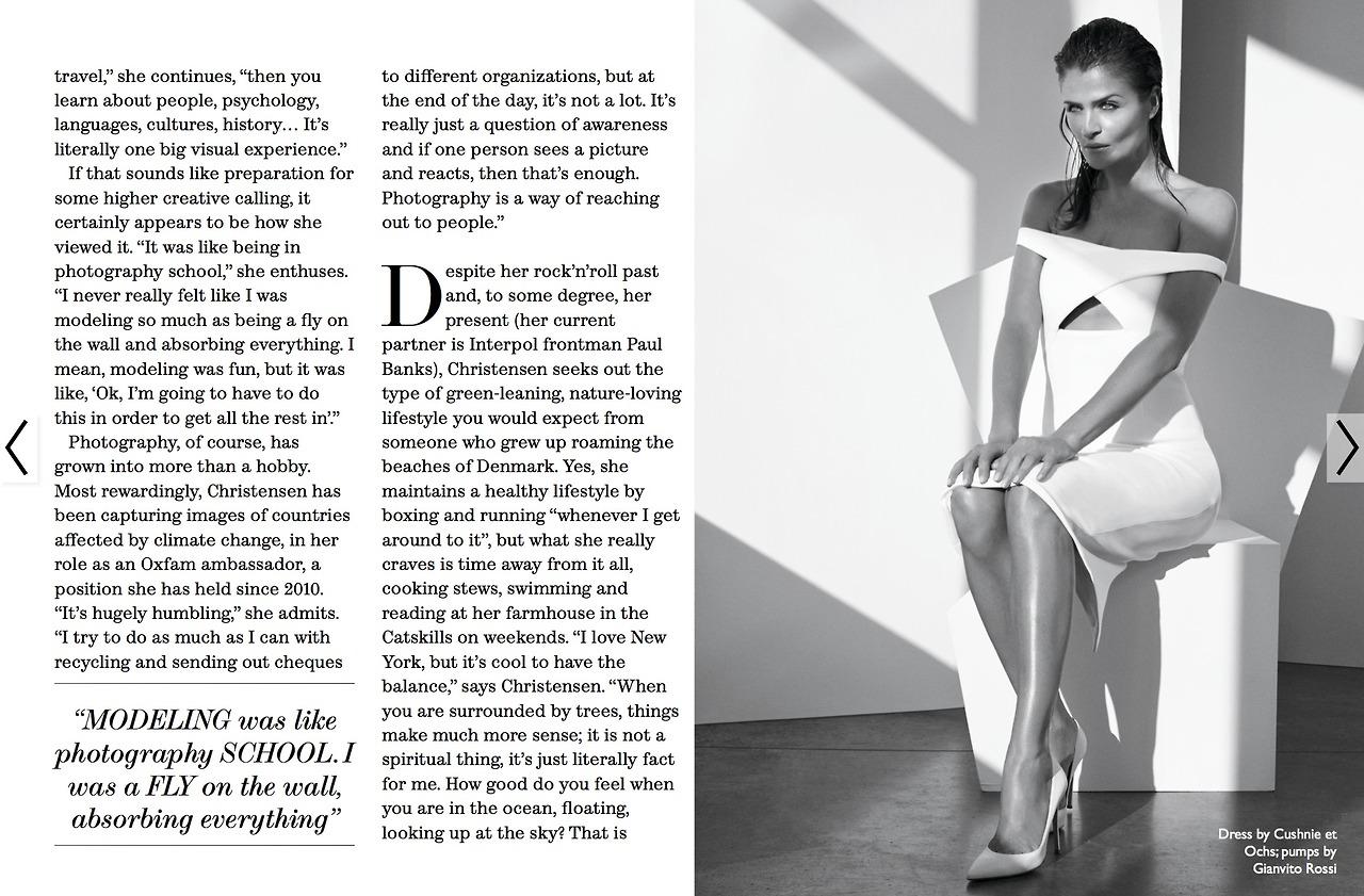 "The Edit January 2014 ""Helena Christensen""   Carlotta Manaigo   The Edit   Tracy Taylor   Numerique Retouch Photo Retouching Studio"