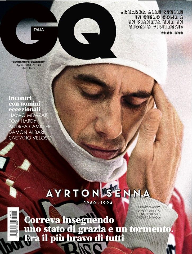 "GQ Italia April 2014 ""Ayrton Senna"" | Victor Demarchelier | Caractère | GQ Italia | Ilaria Chionna | Numerique Retouch Photo Retouching Studio"