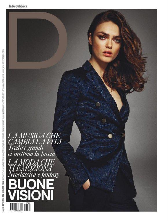 D la repubblica March 2011 Cover | Matteo Montanari | D la Repubblica | Roberta Rusconi | Numerique Retouch Photo Retouching Studio