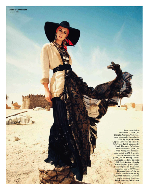 "Grazia Spain May 2013 ""Gipsy Queen"" 