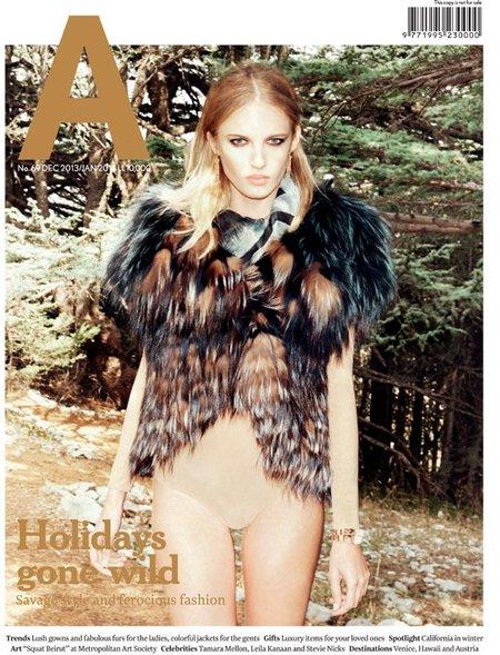"Aishti Magazine Dec 2013/jan 2014 ""Winter Green"" | Marco Pietracupa | Maxalto | Aishti magazine | Amelianna Loiacono | Numerique Retouch Photo Retouching Studio"