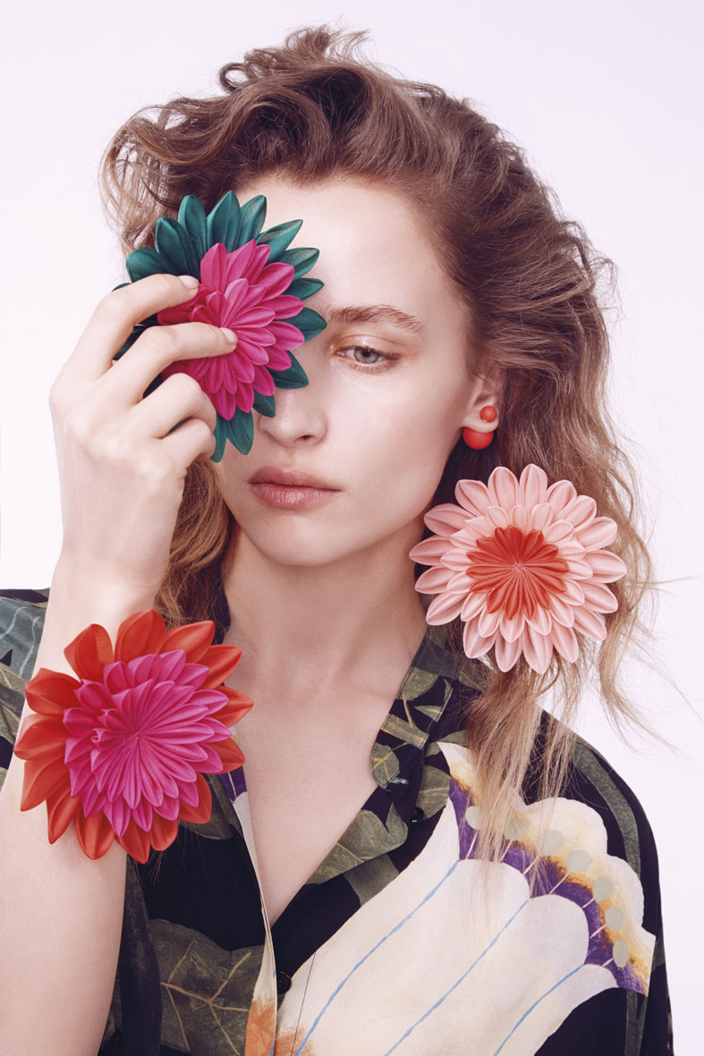 "M le Monde July 2014 ""Un peu de tenues… Le fleuri"" | Carlotta Manaigo | Il Gufo | M le Monde | Marine Chaumien | Numerique Retouch Photo Retouching Studio"