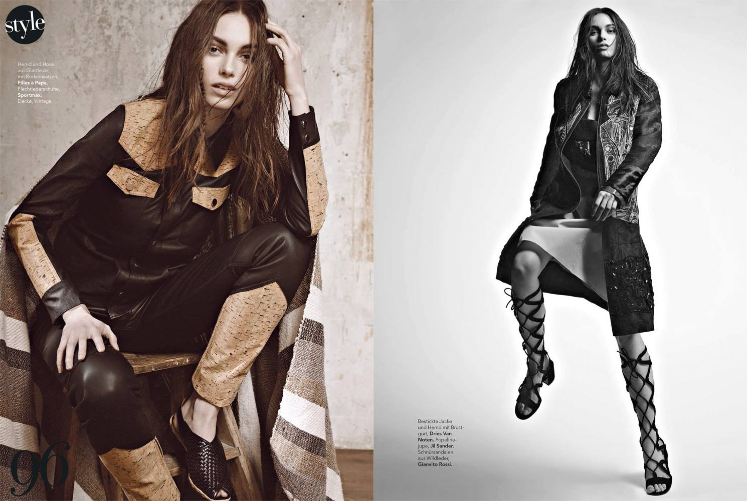 SiStyle April 2015   Andoni & Arantxa   SI Style   Karin Anna Biedert   Numerique Retouch Photo Retouching Studio