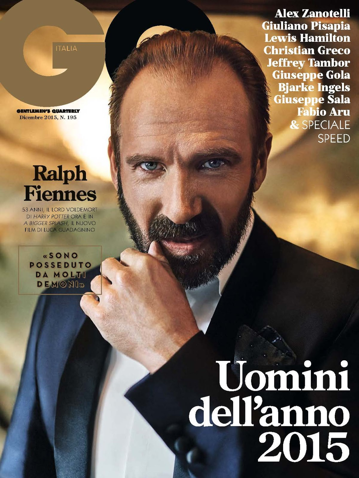 "GQ Italia December 2015 ""Ralph Fiennes"" 