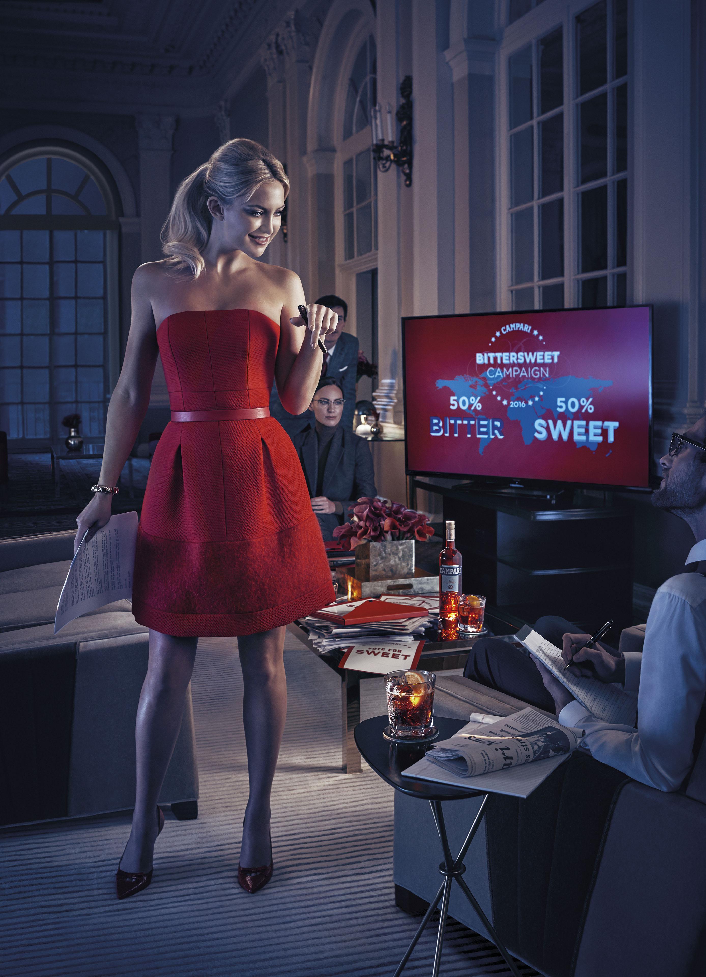 "Campari Calendar 2016 ""Bittersweet Campaign"" feat Kate Hudson | Michelangelo di Battista | Campari | Numerique Retouch Photo Retouching Studio"