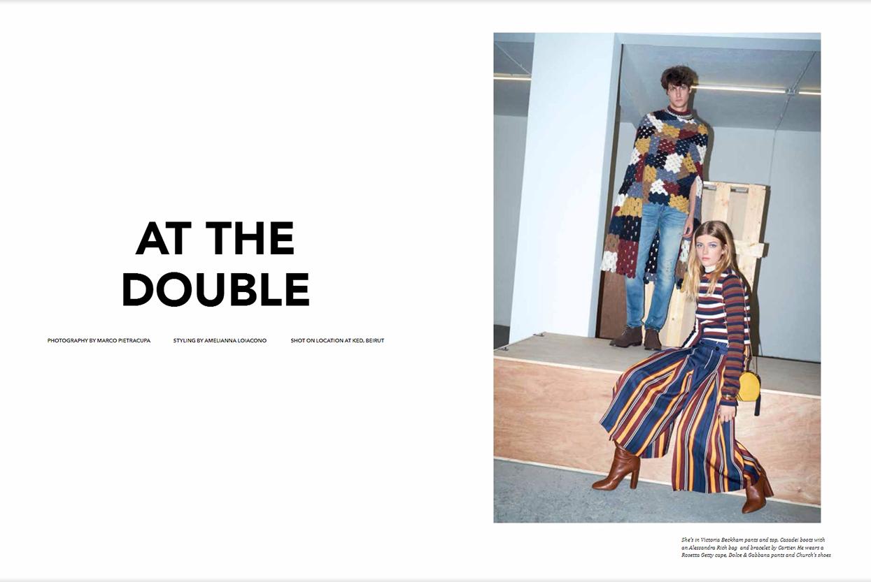 "Aishti Magazine Dec/Jan 2017 ""At the double"" | Marco Pietracupa | Aishti magazine | Amelianna Loiacono | Numerique Retouch Photo Retouching Studio"
