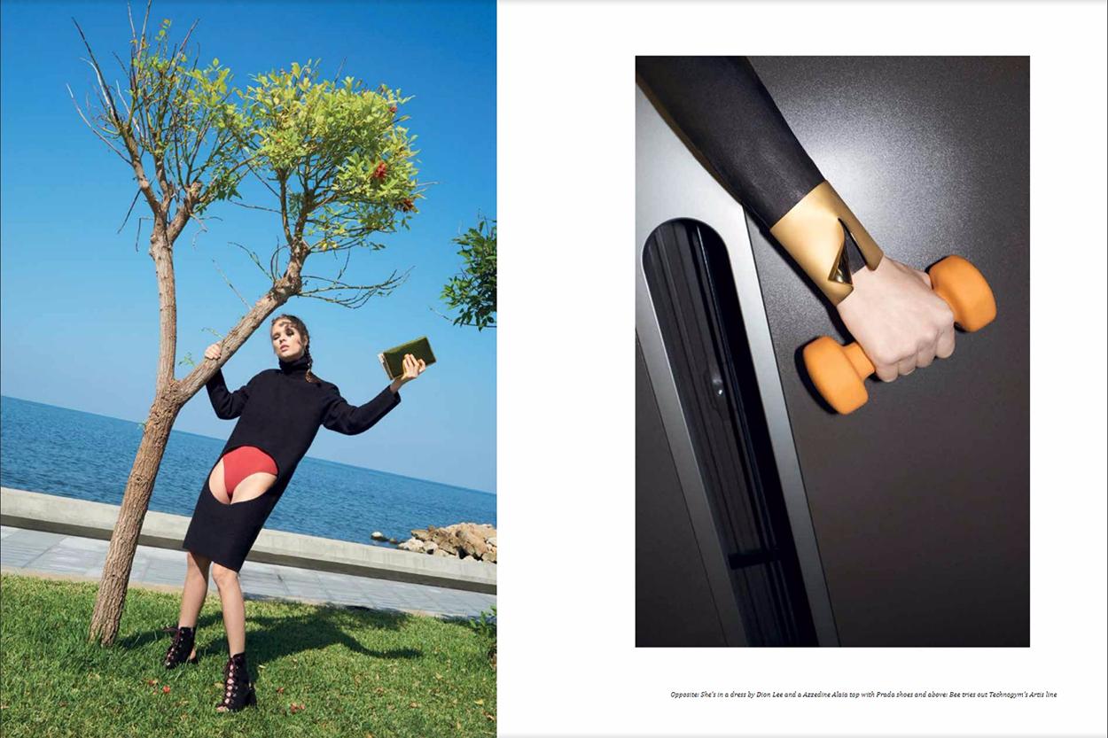 "Aishti Magazine Dec/Jan 2017 ""Bee Gee goes to the gym"" | Marco Pietracupa | Aishti magazine | Amelianna Loiacono | Numerique Retouch Photo Retouching Studio"