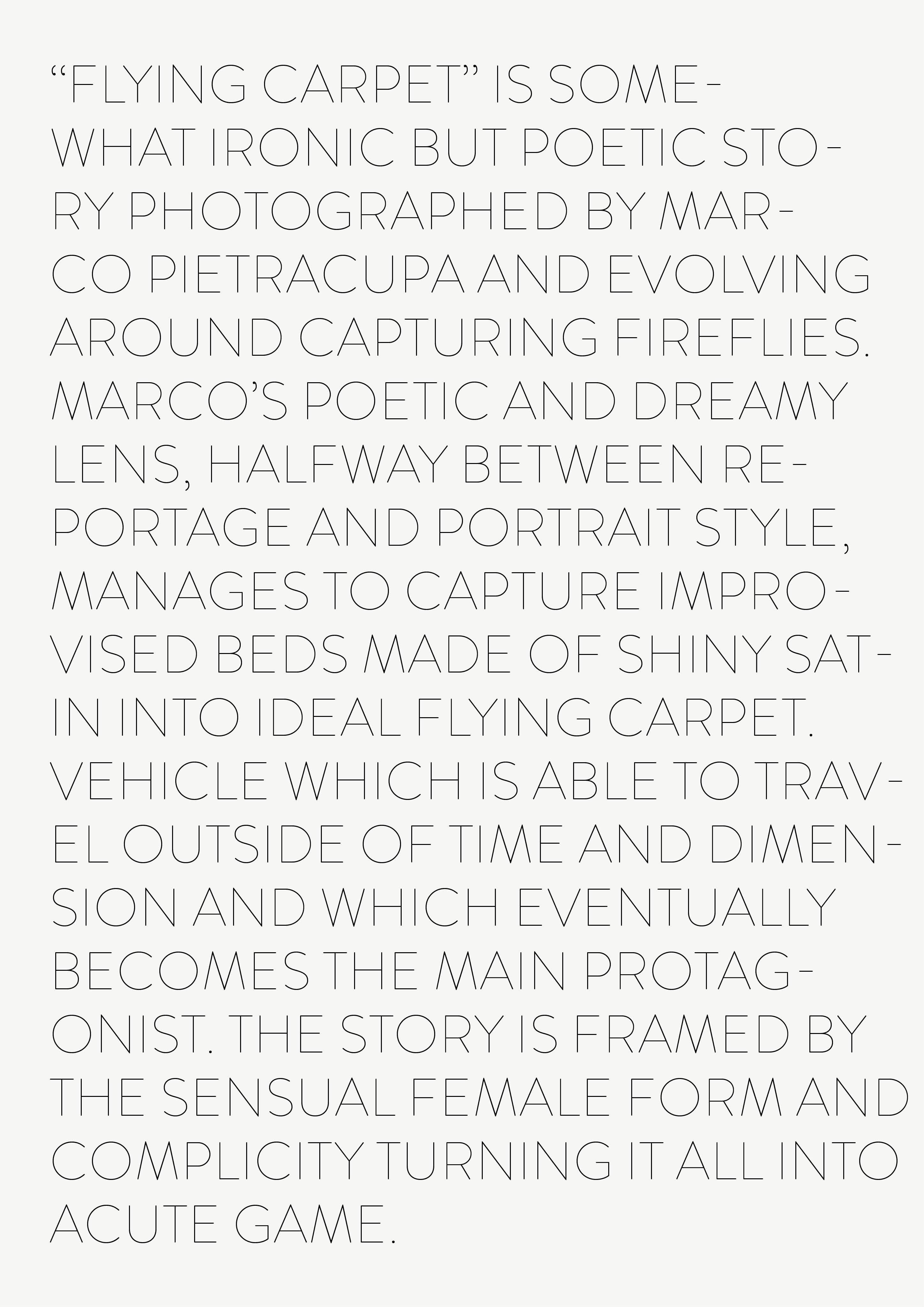 """Flying Carpet"" Le Dictateur gallery, Milano | Marco Pietracupa | Numerique Retouch Photo Retouching Studio"