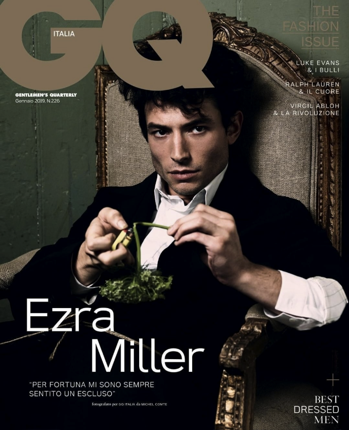 "GQ Italia January ""Ezra Miller"" 2019 