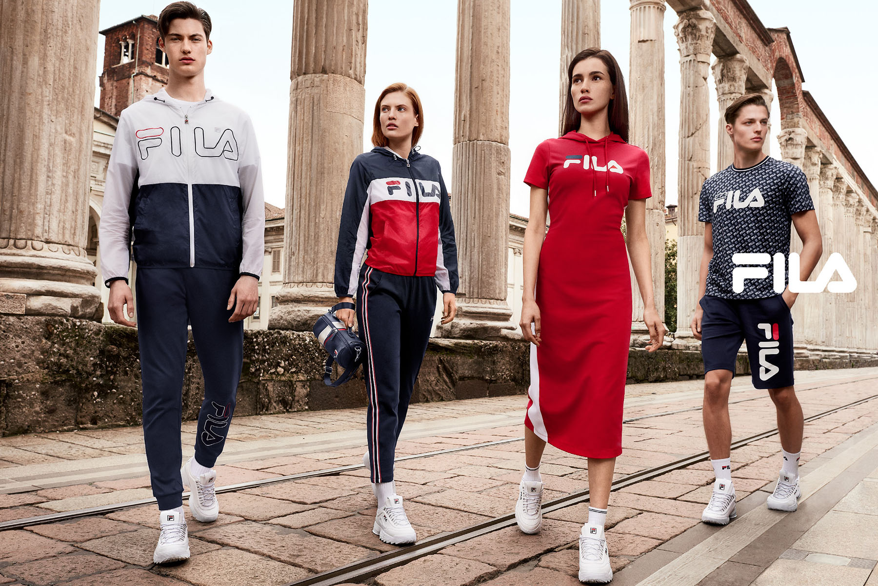 Fila Red Line 2018 | David Umberto Zappa | Fila | IO donna | Stephanie Kherlakian | Numerique Retouch Photo Retouching Studio