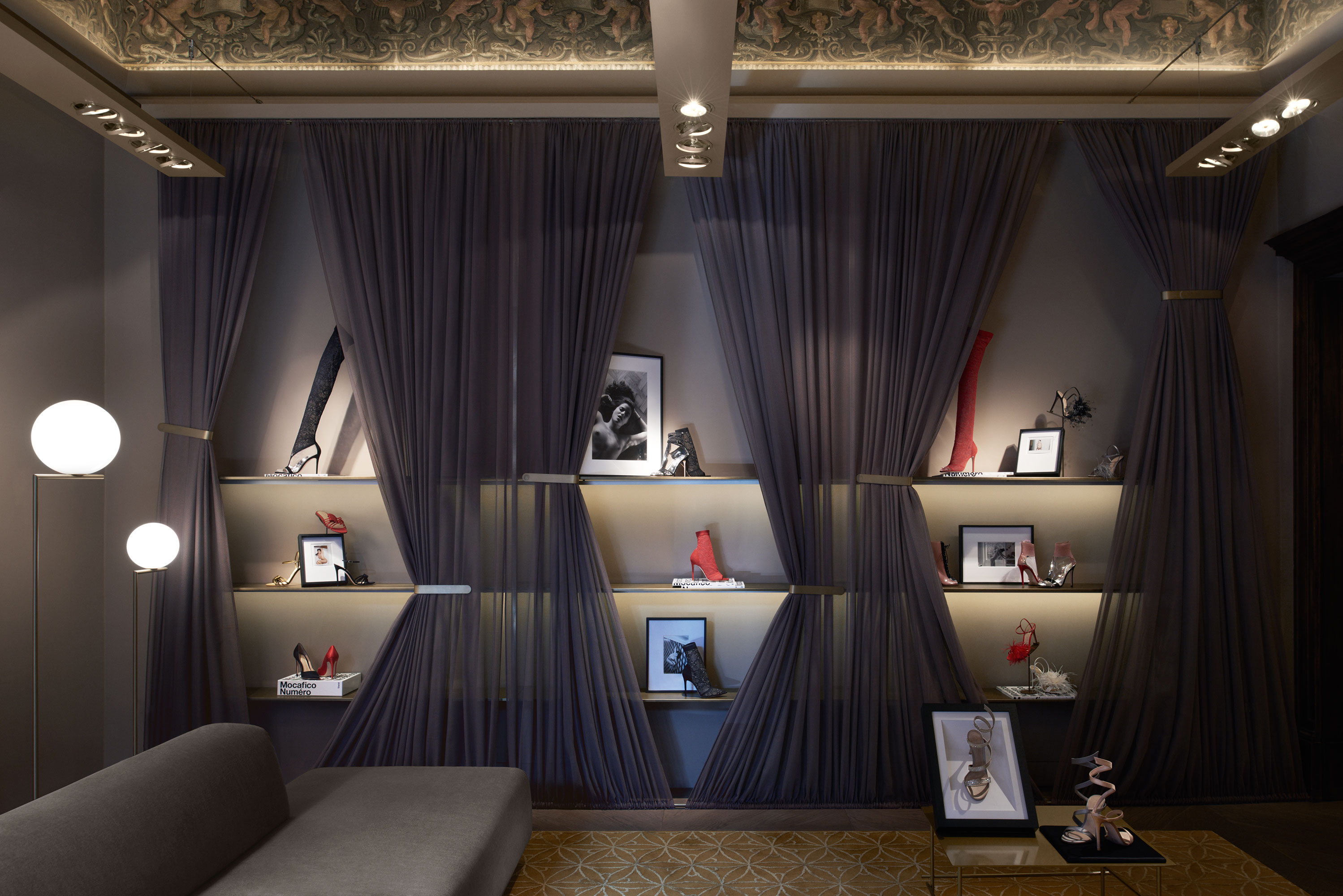Gianvito Rossi boutique in Milan 2018 | Paola Pansini | gianvito rossi | Numerique Retouch Photo Retouching Studio