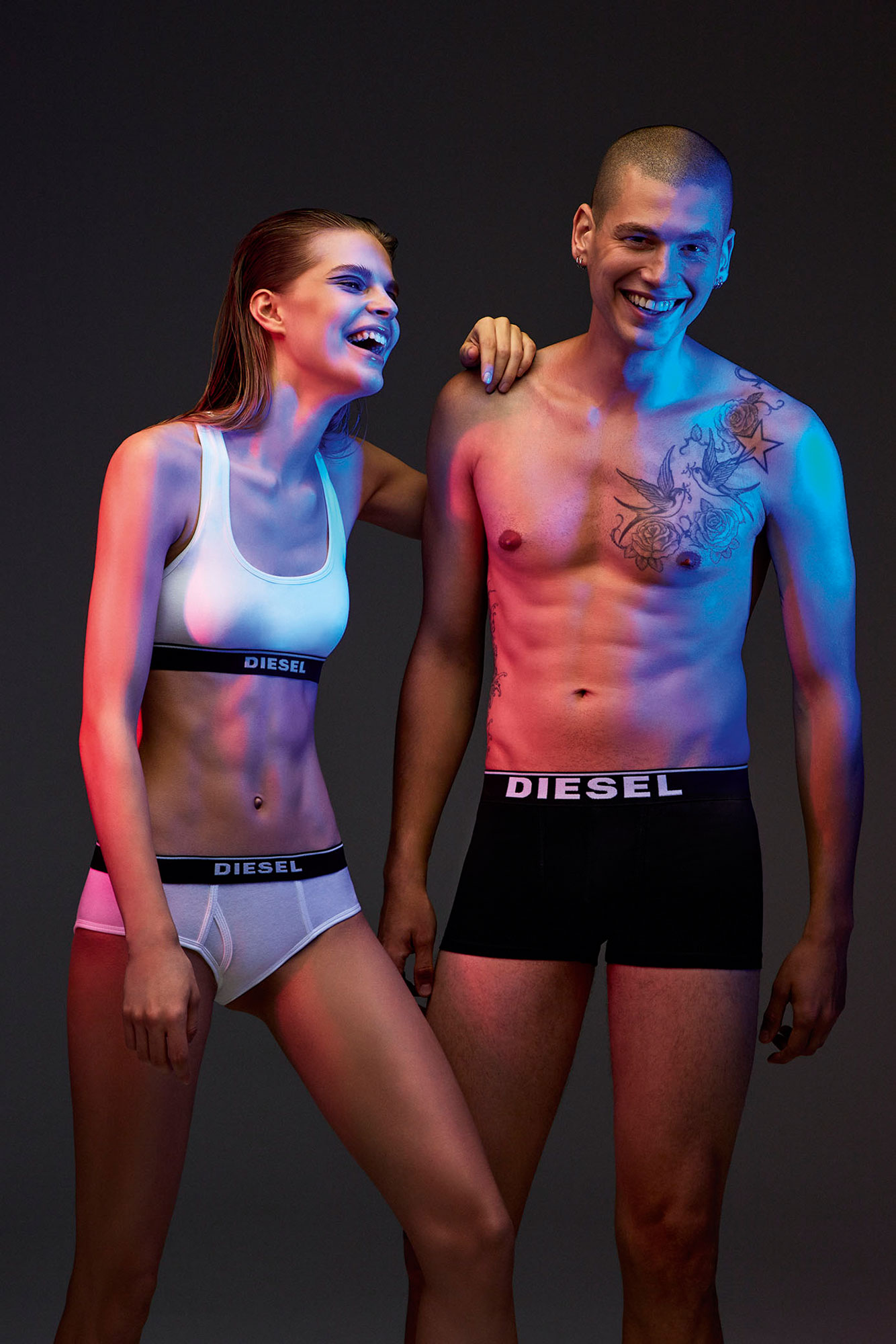 Diesel Underwear 2018 | Carin Backoff | Diesel | Numerique Retouch Photo Retouching Studio