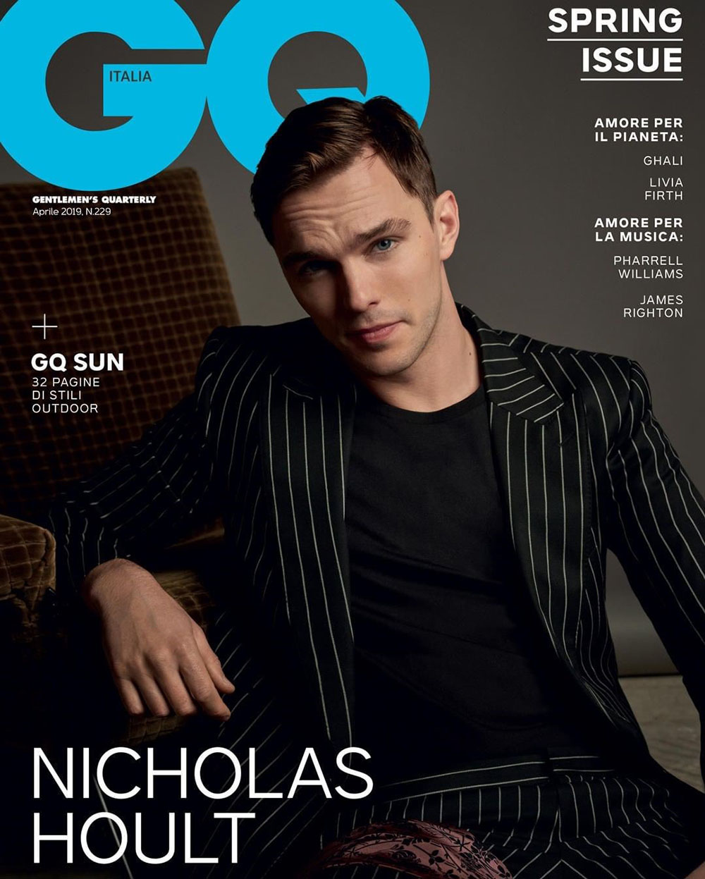 GQ Italia x Nicholas Hoult April 2019 | Numerique Retouch Photo Retouching Studio